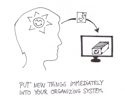 Put things into your organizing system