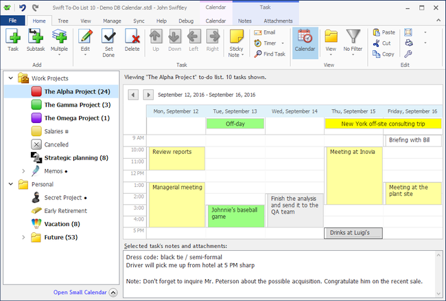 Swift To-Do List 10 scheduling calendar
