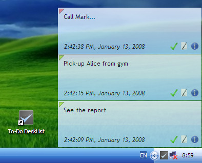 Windows 7 To-Do DeskList 2.00 full